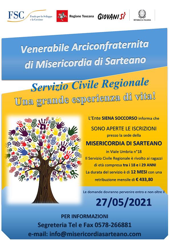 Servizio Civile 2021 Misericordia Sarteano